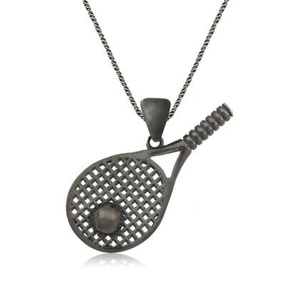 Tekbir Silver - Gümüş Tenis Raketi Unisex Kolye