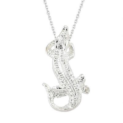 Tekbir Silver - Gümüş Timsah Bayan Kolye