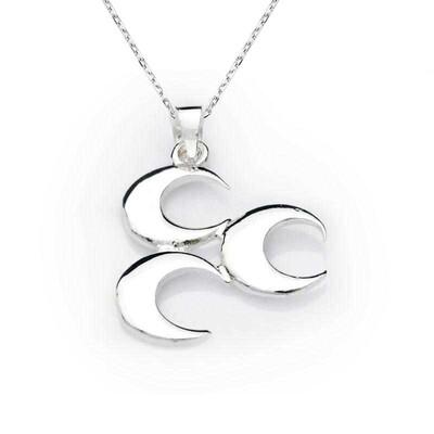 Tekbir Silver - Gümüş Üç Hilal Kolye
