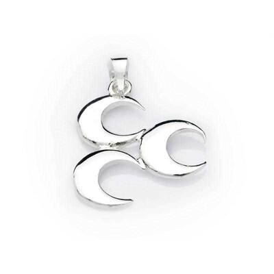 Tekbir Silver - Gümüş Üç Hilal Kolye (1)