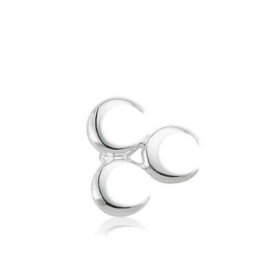 Tekbir Silver - Gümüş Üç Hilal Rozet