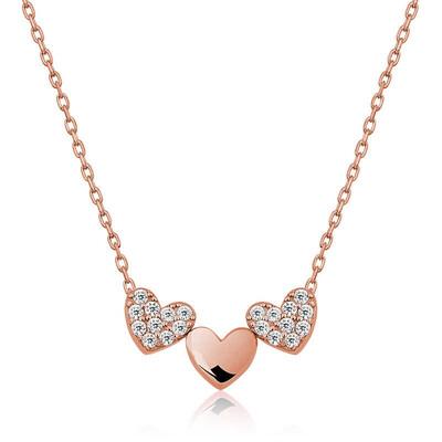 Gumush - Gümüş Üç Kalp Bayan Kolye