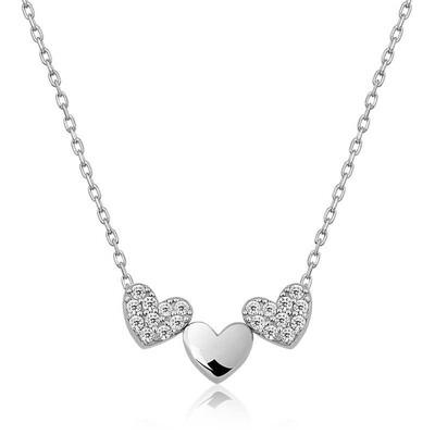 Gumush - Gümüş Üç Kalp Kolye