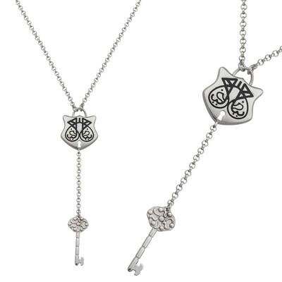 Tekbir Silver - Gümüş Ya Fettah Yazılı Bayan Kolye