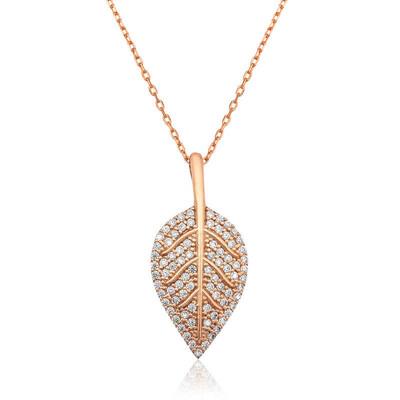 Tekbir Silver - Gümüş Yaprak Bayan Kolye