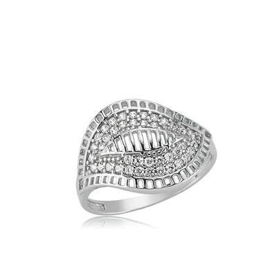 Tekbir Silver - Gümüş Yaprak Bayan Yüzük
