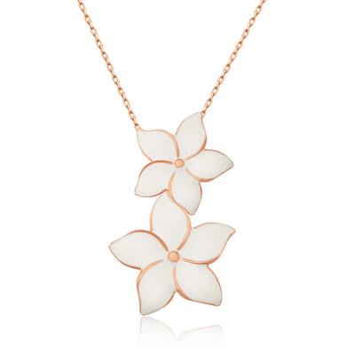 Tekbir Silver - Gümüş Yasemin Çiçekleri Bayan Kolye