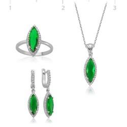 Tekbir Silver - Gümüş Yeşil Mekik Bayan Set