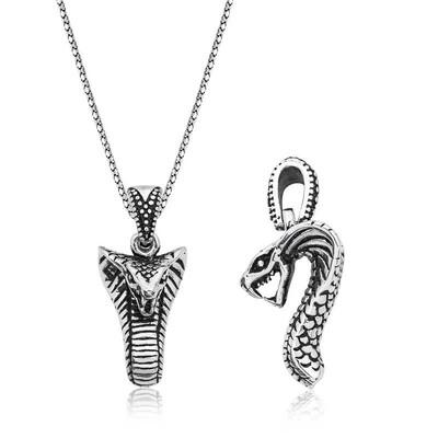 Tekbir Silver - Gümüş Yılan Erkek Kolye