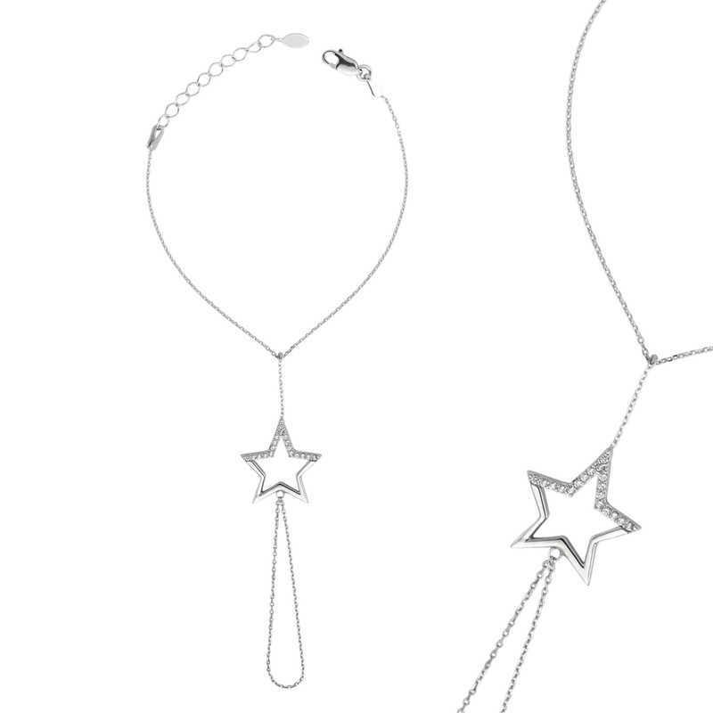 Gümüş Yıldız Şahmeran Bileklik