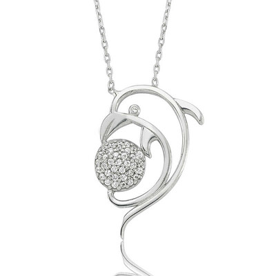 Tekbir Silver - Gümüş Yunus Bayan Kolye
