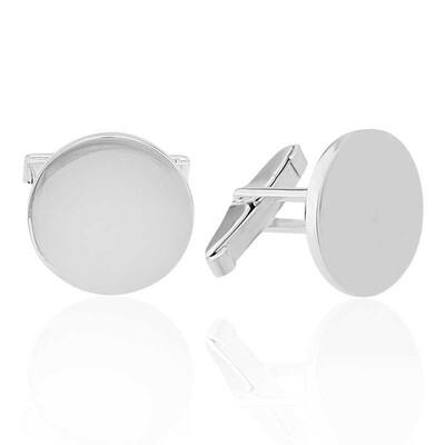 Tekbir Silver - Gümüş Yuvarlak Kol Düğmesi