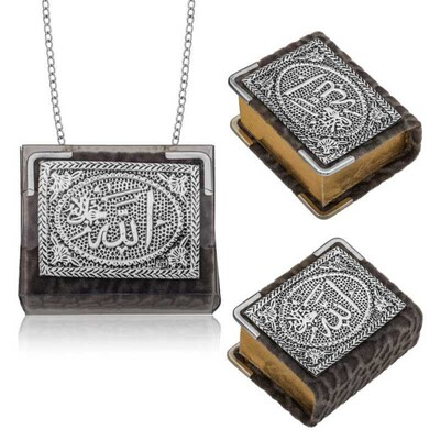 Tekbir Silver - Gümüş Zincirli Küçük Kur'anı-ı Kerim