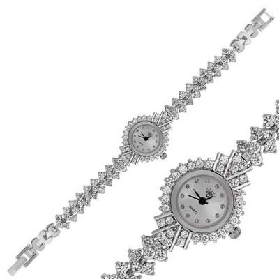 Tekbir Silver - Gümüş Zirkon Taşlı Bayan Saat