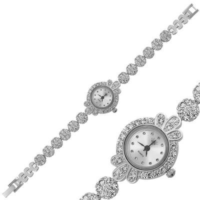 Tekbir Silver - Gümüş Zirkon Taşlı Bayan Saat (1)