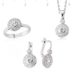 Tekbir Silver - Gümüş Zirkon Taşlı Bayan Set