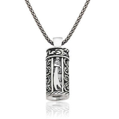 Tekbir Silver - Gümüş Zülfikar Kılıcı Cevşen Kolye