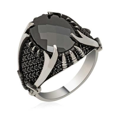Tekbir Silver - Gümüş Zülfikar Kılıcı Erkek Yüzük
