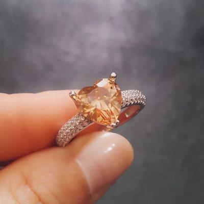 Gumush - Gümüş Zultanit Taşlı Kalp Yüzük