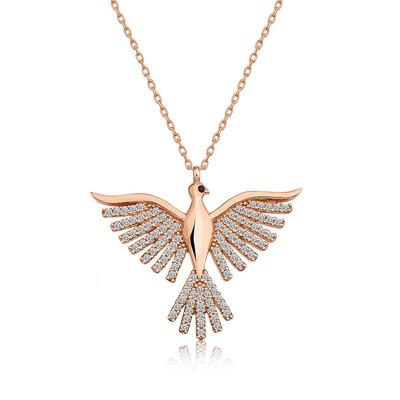 Gumush - Gümüş Zümrüd-ü Anka Kuşu Bayan Kolye