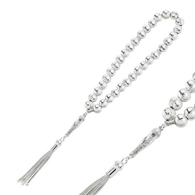 Tekbir Silver - Kalemli Gümüş Tesbih