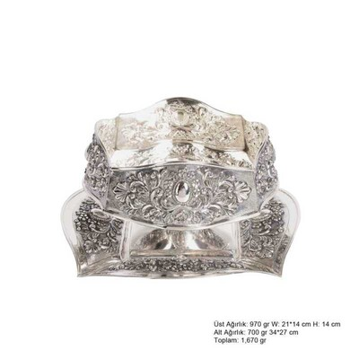 Tekbir Silver - Karanfil ve Papatya Desenli Gümüş Boller