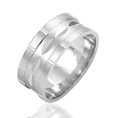 Tekbir Silver - Klasik Bay - Bayan Gümüş Alyans