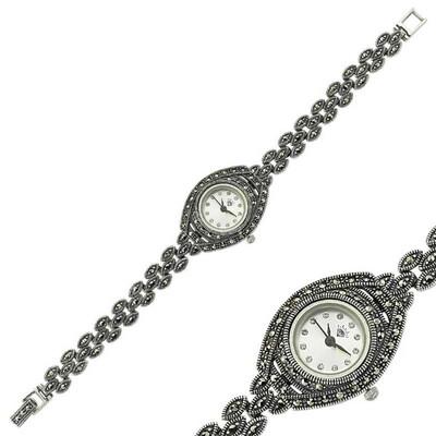 Tekbir Silver - Markazit Taşlı Gümüş Saat