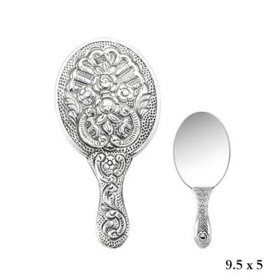 Tekbir Silver - Menekşe Motifli El Aynası