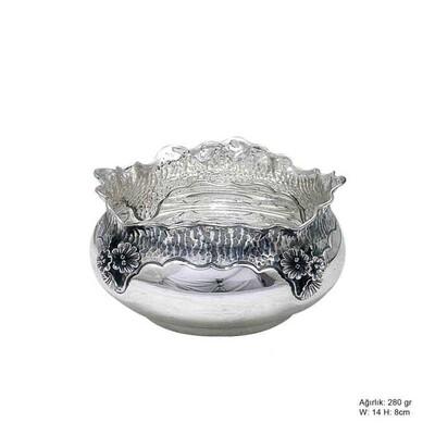 Tekbir Silver - Orkide Desenli Gümüş Şekerlik