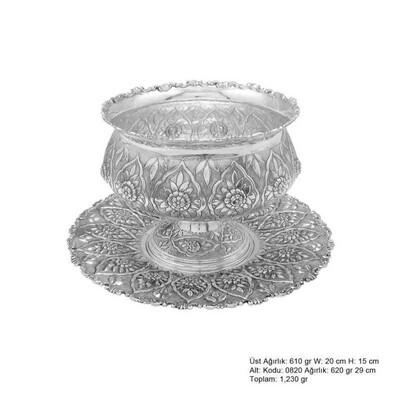 Tekbir Silver - Papatya Desenli Gümüş Boller