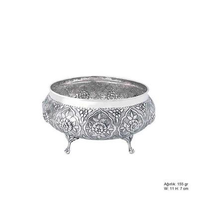 Tekbir Silver - Papatya Desenli Gümüş Şekerlik