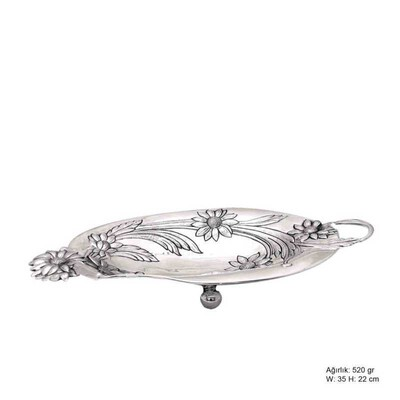 Tekbir Silver - Papatya Motifli Gümüş Çikolatalık