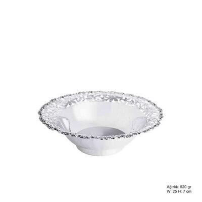 Tekbir Silver - Papatya Motifli Gümüş Meyvelik