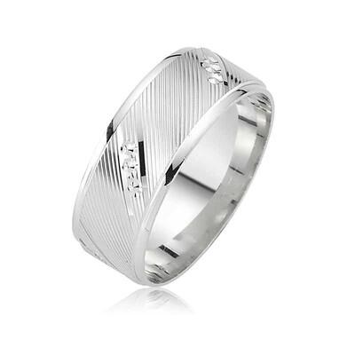 Tekbir Silver - Rodyum Kaplama Klasik Gümüş Alyans