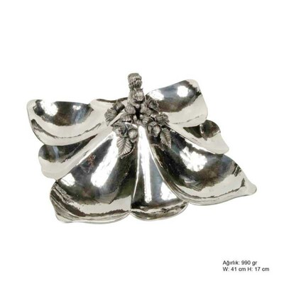Tekbir Silver - Sincap Desenli Gümüş Çerezlik