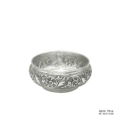 Tekbir Silver - Yaprak Desenli Gümüş Şekerlik