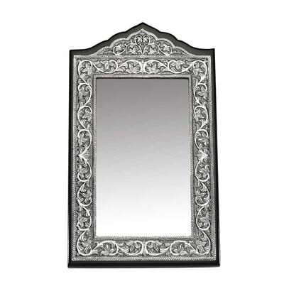 Tekbir Silver - Yaprak Desenli Masa Aynası