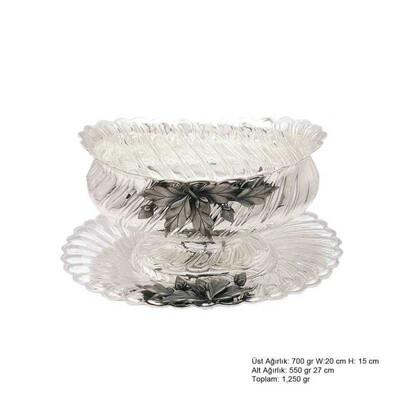 Tekbir Silver - Yaprak Motifli Gümüş Boller