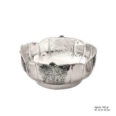 Tekbir Silver - Yaprak Motifli Gümüş Şekerlik