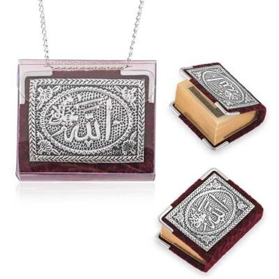 Tekbir Silver - Zincirli Gümüş Küçük Kur'anı-ı Kerim